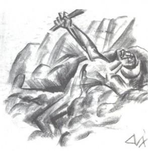 "<p>Abb. 3: Otto Dix, ""Sterbender Krieger"", 1917</p>"